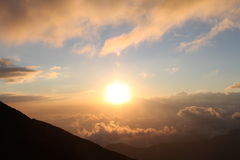 Sunrise from Volcán de Fuego Royalty Free Stock Photos