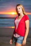 Sunrise vs beauty. Royalty Free Stock Photo