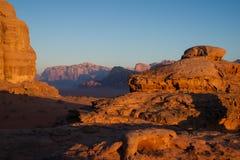 Sunrise in Wadi Rum Stock Images