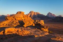 Sunrise in Wadi Rum Royalty Free Stock Photo