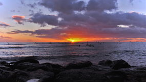 Sunrise Waikiki Stock Photos