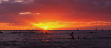 Sunrise Waikiki royalty free stock photos