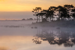 Before Sunrise at Wangkwang Reservoir Phu Kradueng National Park, Loei province, Thailand Royalty Free Stock Image