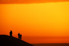 Sunrise watching Stock Images
