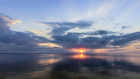 Sunrise on the water Royalty Free Stock Photo