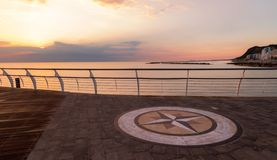 Sunrise on the waterfront of Pesaro. Marche region, Italy - Sunrise on the waterfront of Pesaro stock images