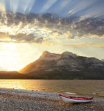 Sunrise at Waterton Provincial Park Alberta, Canada Stock Image