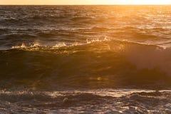 Sunrise wave with back light Royalty Free Stock Image