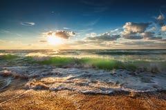 Sunrise Wave Stock Image