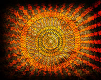 Sunrise wave grunge background Royalty Free Stock Image