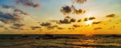 Sunrise wave Panorama Stock Images