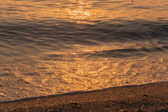 Sunrise and wave. The reflection of sunlight on a wave royalty free stock images