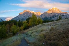Sunrise at Wedge Pond, Kananaskis, Alberta, Canada Stock Photos