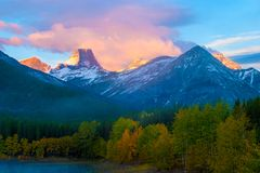 Sunrise at Wedge Pond, Kananaskis, Alberta, Canada Stock Image