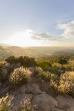 Sunrise in the West San Fernando Valley Area of Los Angeles Stock Images