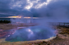 Sunrise in West Thumb Geyser Basin - Yellowstone Stock Photography