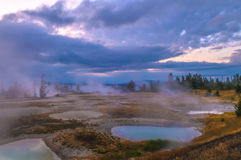 Sunrise in West Thumb Geyser Basin - Yellowstone Royalty Free Stock Image