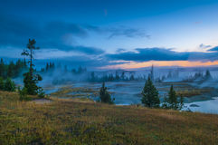 Sunrise in West Thumb Geyser Basin - Yellowstone Royalty Free Stock Photo