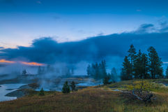 Sunrise in West Thumb Geyser Basin - Yellowstone Stock Images