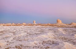 Sunrise at White Desert, Egypt Royalty Free Stock Photography