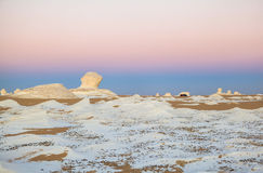 Sunrise at White Desert, Egypt Royalty Free Stock Images