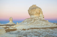 Sunrise at White Desert, Egypt Stock Image