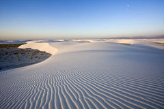 After sunrise in White Dunes National Monument royalty free stock images