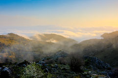 Sunrise in the White Mountains stock images