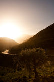 Sunrise in the White Mountains royalty free stock photography