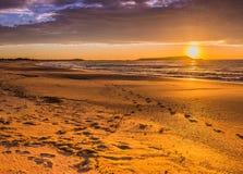 Sunrise Windang Island. Warilla Beach Illawarra ,south coast of NSW ,Australia Royalty Free Stock Photography