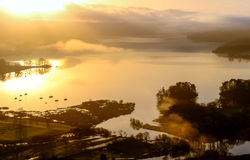 Sunrise on Windermere. Royalty Free Stock Images