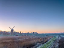 Sunrise Windmill Cley next the Sea  Norfolk Royalty Free Stock Photos
