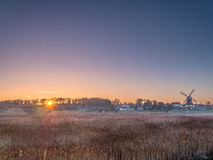 Sunrise Windmill Cley next the Sea  Norfolk Stock Photo