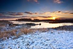 Sunrise in winter Stock Images