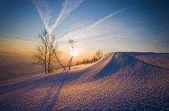Sunrise in winter Royalty Free Stock Images