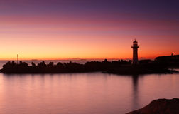Sunrise Wollongong Breakwater Lighthouse Royalty Free Stock Photos