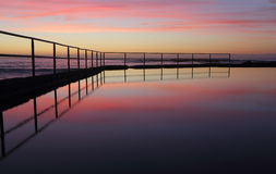 Sunrise at Wombarra Ocean Rock Pool Stock Photography