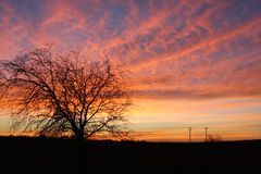Sunrise at work. This was taken on the West side of Fort Worth Texas from My office parking lot Stock Photography
