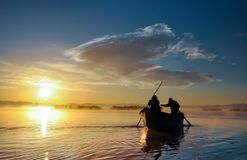 Working for fishermen Royalty Free Stock Images