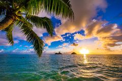 Lanikai Beach Sunrise. Sunrise from the world famous Lanikai Beach in Kailua Stock Photography