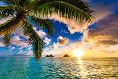 Lanikai Beach Sunrise. Sunrise from the world famous Lanikai Beach in Kailua Royalty Free Stock Photos