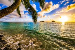 Lanikai Beach Sunrise stock photo