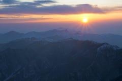 Sunrise of Wutaishan Stock Photography