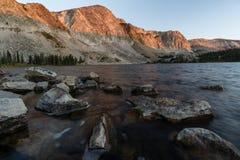 Sunrise on Medicine Bow Peak royalty free stock image