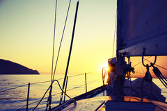Sunrise on a yacht Royalty Free Stock Photos