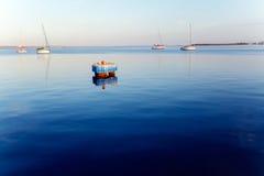 Sunrise at Yacht Marine in Cienfuegos Royalty Free Stock Image