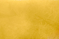 Sunrise Yellow ice texture Stock Photography