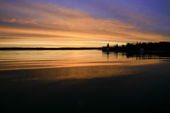 Sunrise, Yellowknife Bay. Stock Images