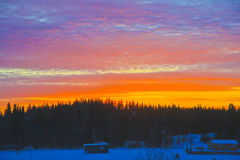 10am Sunrise, Yellowknife, Northwest Territories Royalty Free Stock Image