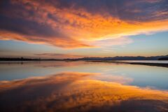 Sunrise, Yellowstone Lake, Sky Royalty Free Stock Photography